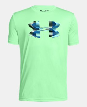 super popular ea26b 20164 New to Outlet Boys  UA Tech™ Big Logo Solid T-Shirt LIMITED TIME. 1 Color  Available. Green Typhoon