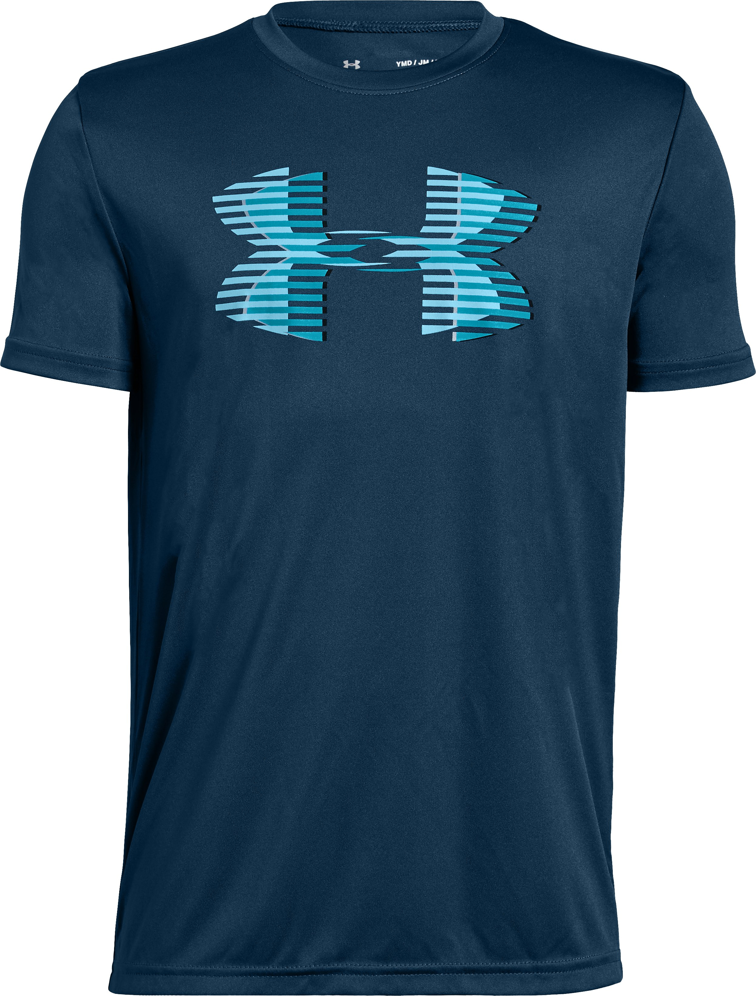 Boys' UA Tech™ Big Logo Solid T-Shirt, Techno Teal, zoomed