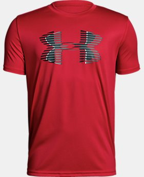 Boys' UA Tech™ Big Logo Solid T-Shirt  1  Color Available $12 to $15