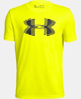 New Arrival Boys' UA Tech™ Big Logo Solid T-Shirt  2  Colors Available $20