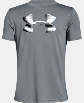 New Arrival  Boys' UA Tech™ Big Logo Printed T-Shirt  3  Colors Available $30