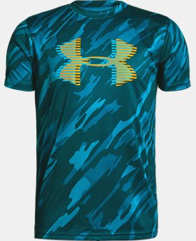New Arrival Boys' UA Tech™ Big Logo Printed T-Shirt FREE U.S. SHIPPING 3  Colors Available $25