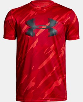 Boys' UA Tech™ Big Logo Printed T-Shirt  1  Color Available $15 to $19.99