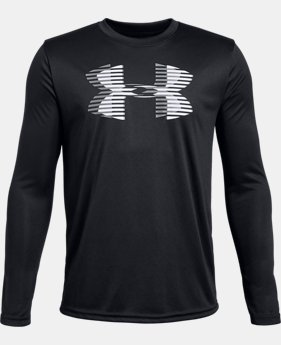 New Arrival Boys' UA Tech™ Big Logo Long Sleeve FREE U.S. SHIPPING 1  Color Available $25