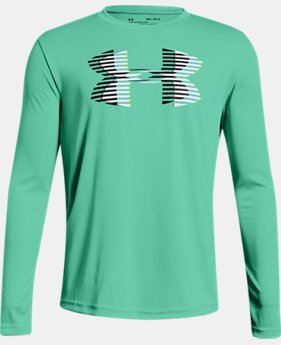 Boys' UA Tech™ Big Logo Long Sleeve  6  Colors Available $25