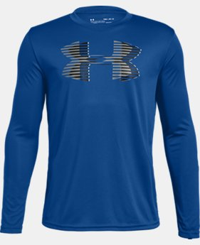 Boys' UA Tech™ Big Logo Long Sleeve  1  Color Available $25