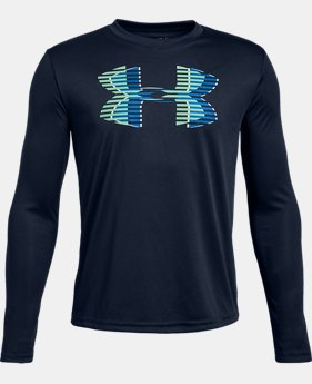 Boys' UA Tech™ Big Logo Long Sleeve  4  Colors Available $30