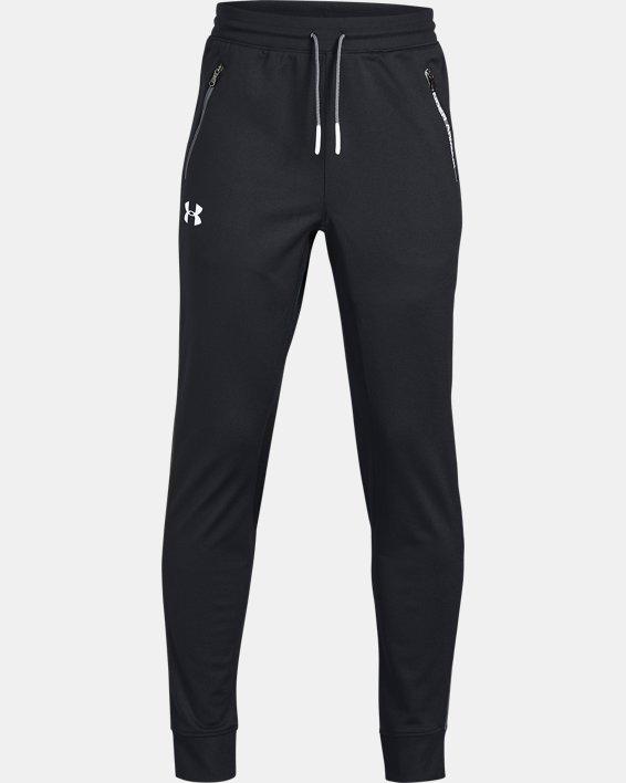 Boys' UA Pennant Tapered Pants, Black, pdpMainDesktop image number 4