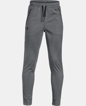 Best Seller Boys' UA Pennant Tapered Pants  5  Colors Available $40