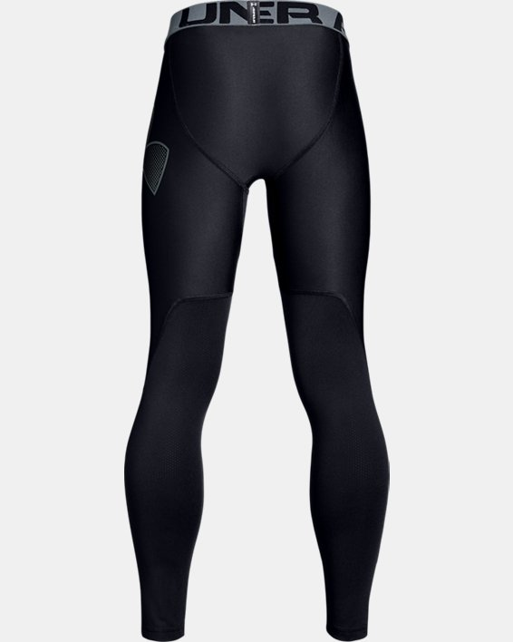 Boys' HeatGear® Armour Leggings, Black, pdpMainDesktop image number 5
