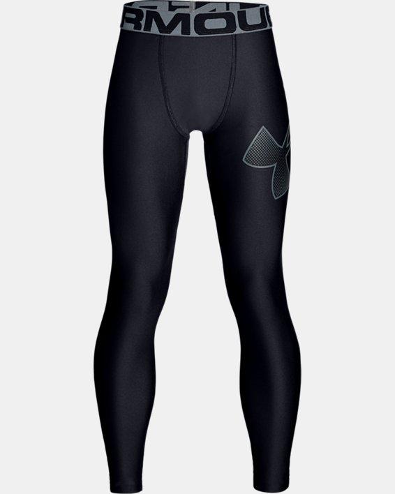 Boys' HeatGear® Armour Leggings, Black, pdpMainDesktop image number 4