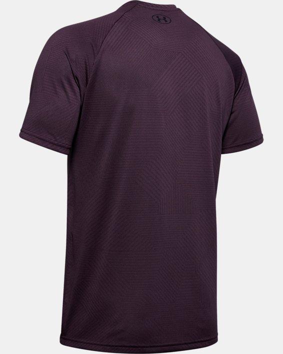 Men's UA Velocity 2.0 Jacquard Short Sleeve, Purple, pdpMainDesktop image number 5