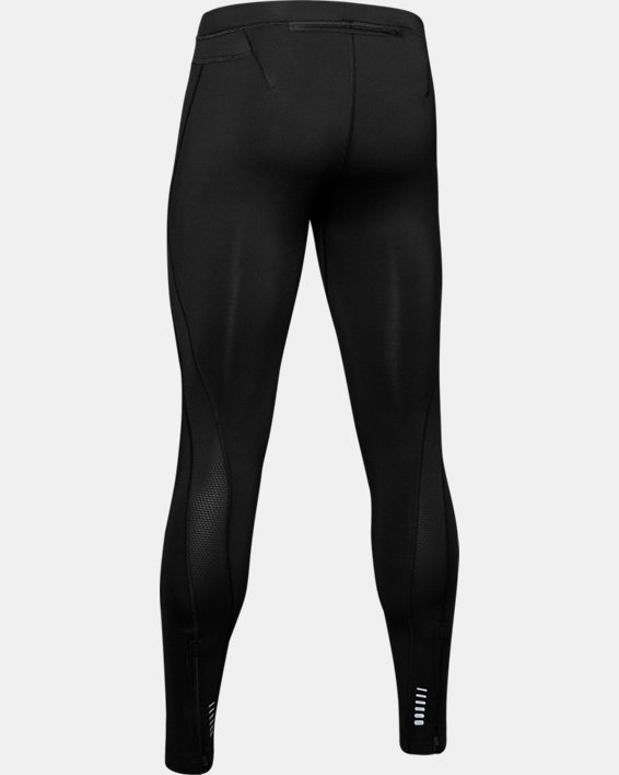 Men's UA RUSH™ Run HeatGear® Tights, Black, pdpMainDesktop image number 4