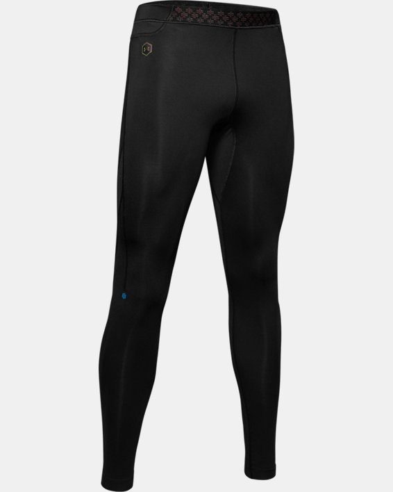 Men's UA RUSH™ Run HeatGear® Tights, Black, pdpMainDesktop image number 3