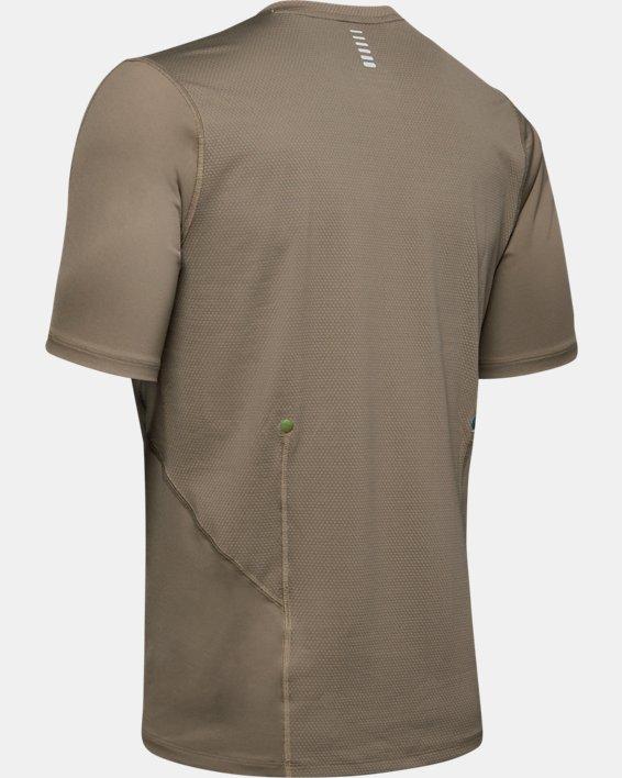 T-shirt de course UA RUSH pour homme, Brown, pdpMainDesktop image number 5