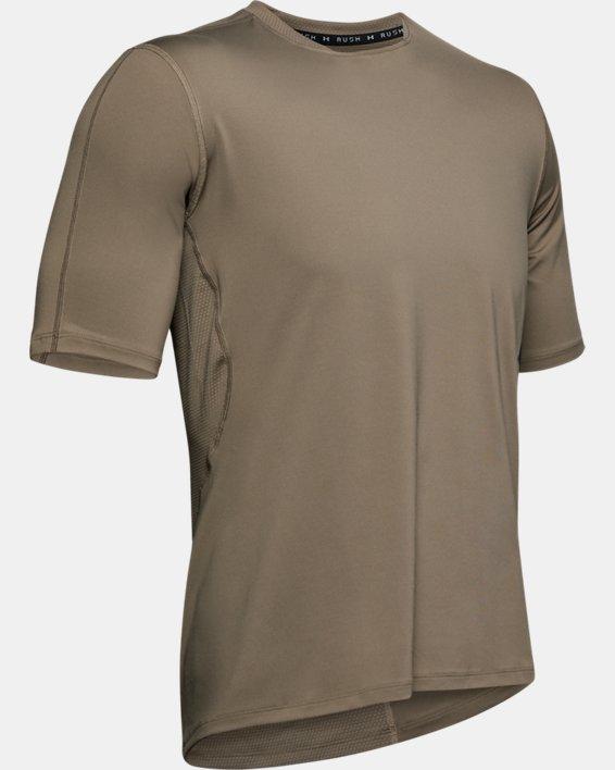 T-shirt de course UA RUSH pour homme, Brown, pdpMainDesktop image number 4