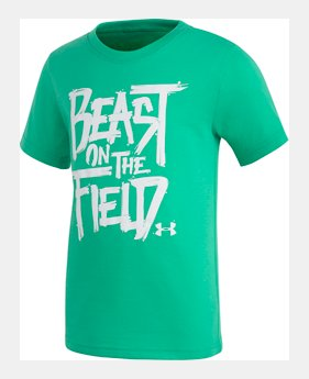 91c102b6e Boys' Toddler UA Beast On The Field Short Sleeve UV ACTIVATED GRAPHIC 1  Color Available