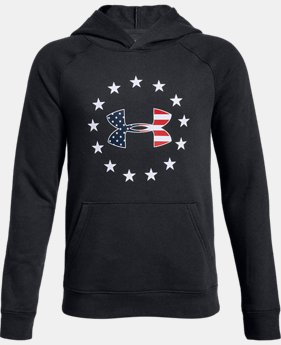 Boys' UA Freedom Logo Rival Hoodie  2  Colors Available $45