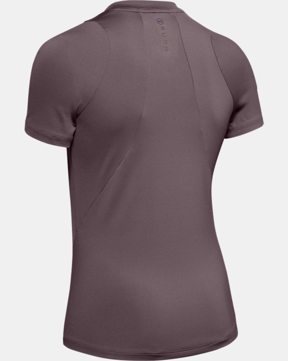 Women's UA RUSH™ Short Sleeve, Gray, pdpMainDesktop image number 4