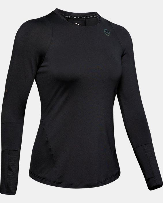 T-shirt à manches longues UA RUSH pour femme, Black, pdpMainDesktop image number 4