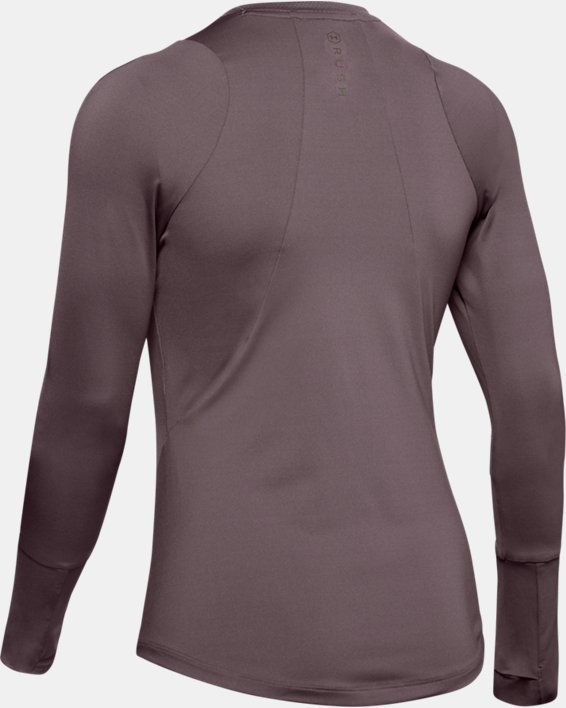Women's UA RUSH™ Long Sleeve, Gray, pdpMainDesktop image number 5