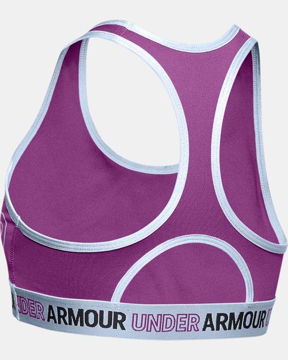 Girls' HeatGear® Armour Sports Bra, Purple, pdpMainDesktop image number 1
