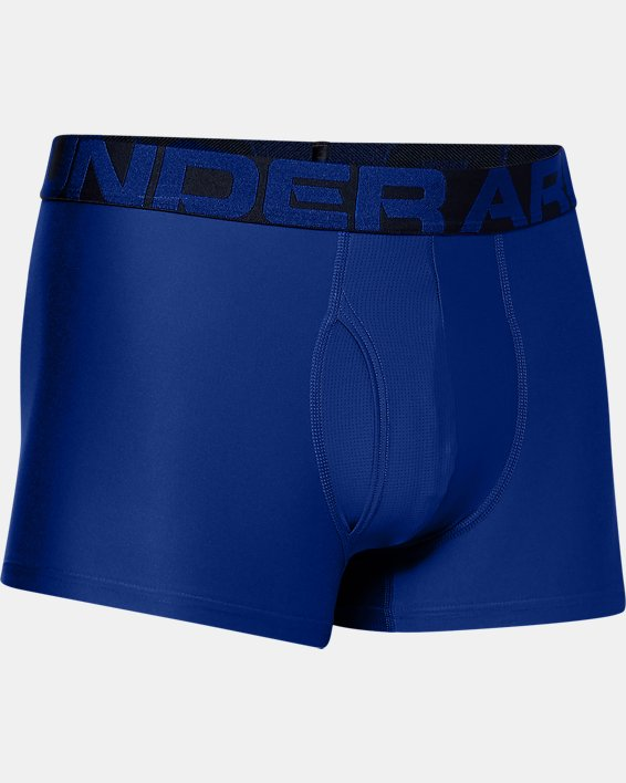 "Men's UA Tech™ 3"" Boxerjock®, Blue, pdpMainDesktop image number 2"
