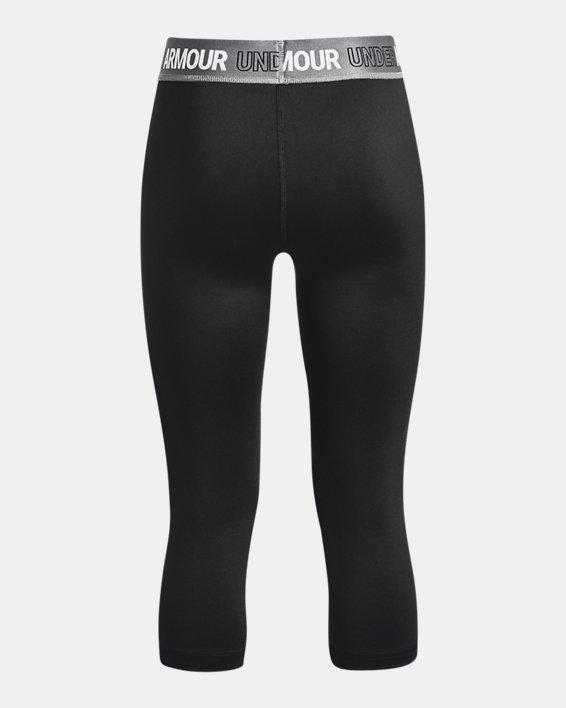 Girls' HeatGear® Armour Capris, Black, pdpMainDesktop image number 1