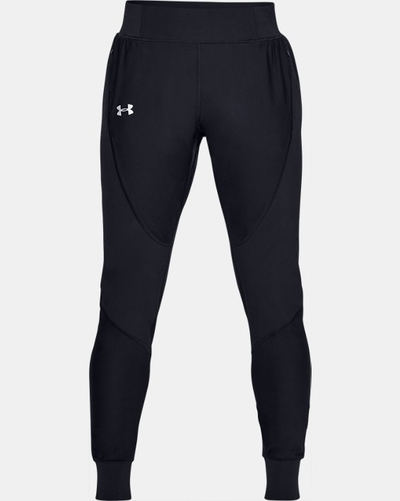 Women's UA Qualifier Speedpocket Pants, Black, pdpMainDesktop image number 4
