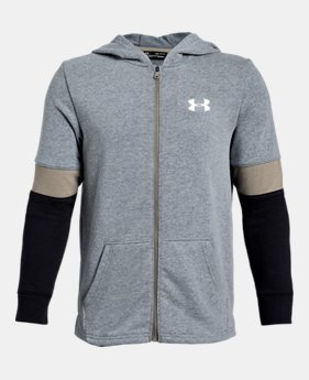 Boys  UA Rival Terry Full Zip 1 Color Available  55 70601f04f5