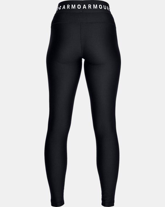 Women's HeatGear® Armour Branded WB Leggings, Black, pdpMainDesktop image number 4