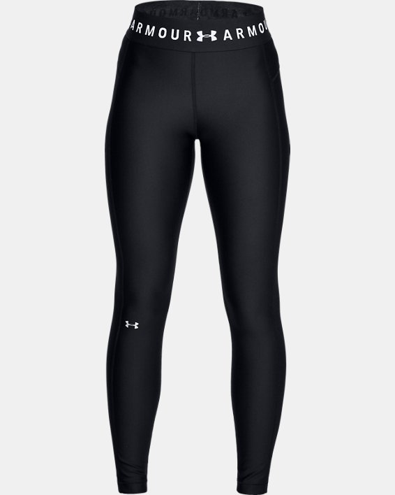 Women's HeatGear® Armour Branded WB Leggings, Black, pdpMainDesktop image number 3