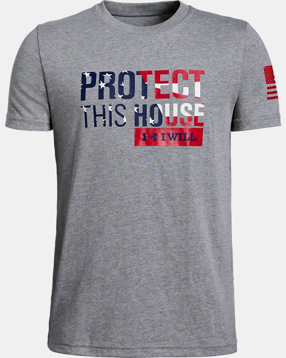 Boys' UA Freedom PTH T-Shirt, Gray, pdpMainDesktop image number 0