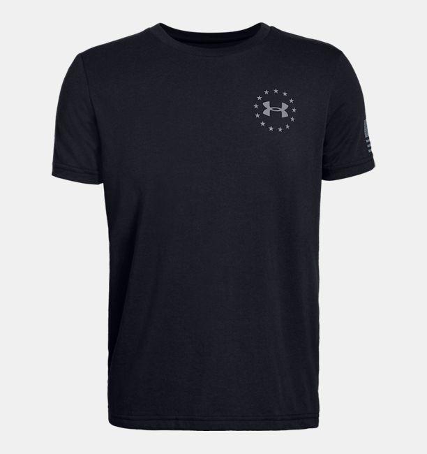 Ua Freedom Flag Boys  Short Sleeve Shirt by Under Armour d58bca8f1c40