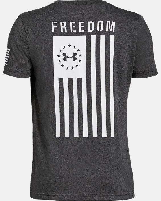 Boys' UA Freedom Flag T-Shirt, Gray, pdpMainDesktop image number 1