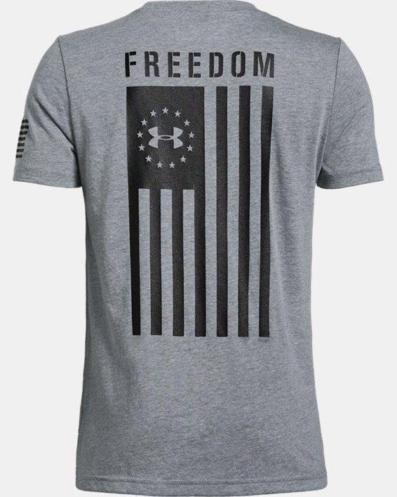 Boys' UA Freedom Flag T-Shirt, Gray, pdpMainDesktop image number 5