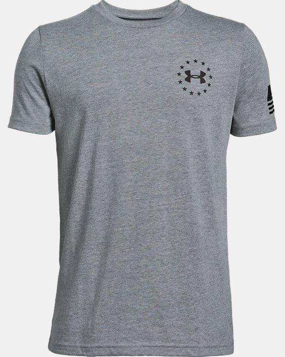 Boys' UA Freedom Flag T-Shirt, Gray, pdpMainDesktop image number 4