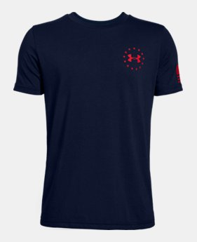 08dda37db2 Boys' UA Freedom Flag T-Shirt 4 Colors Available $20