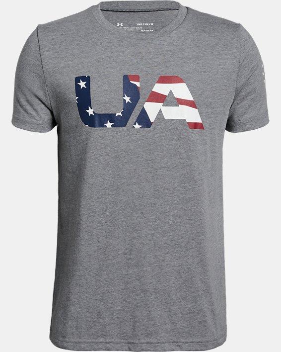 Boys' UA Freedom BFL T-Shirt, Gray, pdpMainDesktop image number 0
