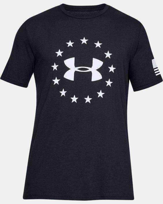 Men's UA Freedom Logo T-Shirt, Black, pdpMainDesktop image number 3