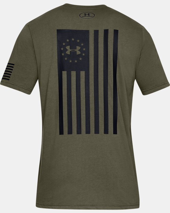Men's UA Freedom Flag Bold T-Shirt, Green, pdpMainDesktop image number 4