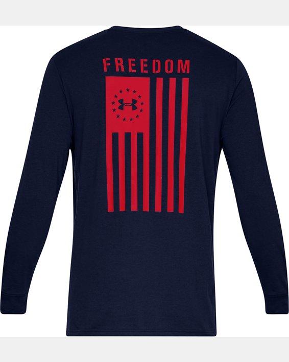 Men's UA Freedom Flag Long Sleeve T-Shirt, Navy, pdpMainDesktop image number 4