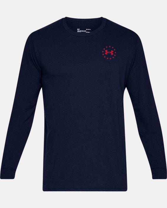 Men's UA Freedom Flag Long Sleeve T-Shirt, Navy, pdpMainDesktop image number 3