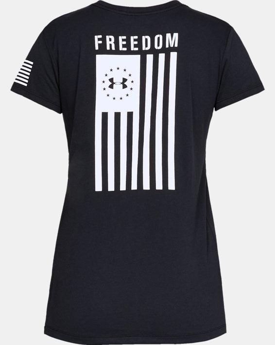 Women's UA Freedom Flag T-Shirt, Black, pdpMainDesktop image number 4