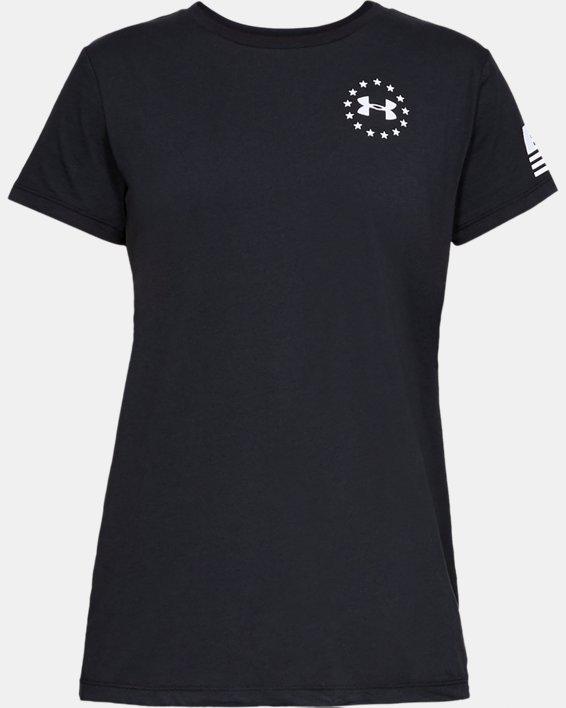 Women's UA Freedom Flag T-Shirt, Black, pdpMainDesktop image number 3