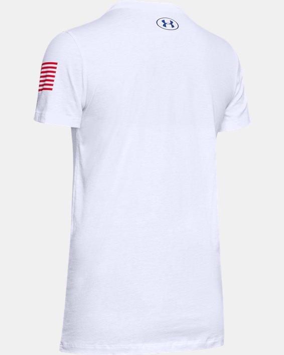 Women's UA Freedom Logo T-Shirt, White, pdpMainDesktop image number 5