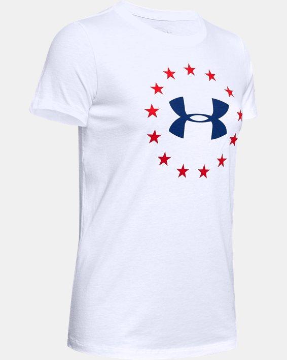 Women's UA Freedom Logo T-Shirt, White, pdpMainDesktop image number 4