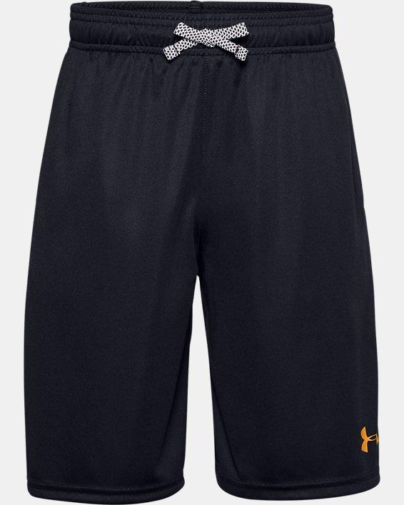 Boys' UA Prototype Wordmark Shorts, Black, pdpMainDesktop image number 0