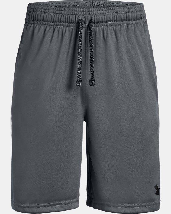 Boys' UA Prototype Wordmark Shorts, Gray, pdpMainDesktop image number 4