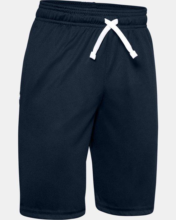 Boys' UA Prototype Wordmark Shorts, Navy, pdpMainDesktop image number 0